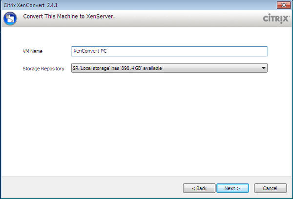 "Figure 97 - Select ""VM Name"" and ""Storage Repository"".png"